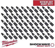 Milwaukee Shockwave Impact Pz2 Screw Screwdriver Bits 25Mm X 25 + Tic Tac Box
