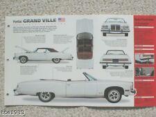 1971-1975 Pontiac Grande Ville Spec Foglio/Brochure