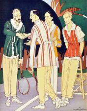 "20x30""Decoration Canvas.Interior design Art.Retro fashion.Men tennis club.6361"