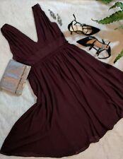 JCrew Silk Chiffon Party Dress V Neck Empire Waist Wedding Coctail Wine Dress10