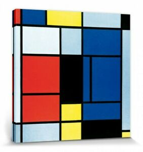 Piet Mondrian - Tableau No I Abstract Art Poster Canvas Print (28x28in) #86849