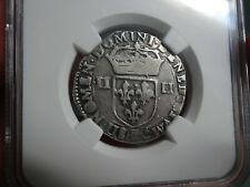 1604F FRANCE HENRI IV, 1/4E, NGC VF20 TOP POP