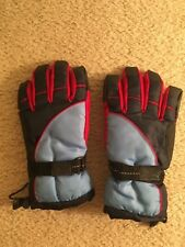 Thinsulate 40 Gram insulated Red Blue Black Ski Gloves BOYS 12-14 Waterproof