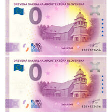 2x 0 Euro Souvenir DREVENA SAKRALNA ARCHITEKTURA [NEW DESIGN + ANNIVERSARY]