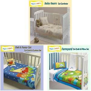 Quilt OR Comforter Nursery Baby Cot by Jiggle & Giggle TEDDY BEAR OWL FARMYARD