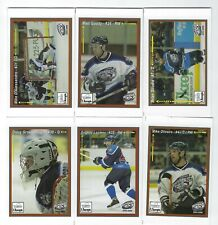 2005-06 Richmond Riverdogs (UHL) partially complete team set (11/15)