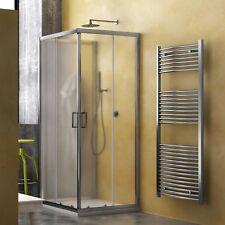 Box doccia tre lati 80x120x80 cabina scorrevole vetro tessuto cristallo stampato