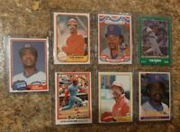 (7) Leon Durham 1981 Topps Traded Fleer Donruss 1984 Rookie Card Lot RC Cubs