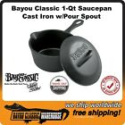 Cast Iron 1 Quart Saucepan w/Pour Spout & Self Basting Lid Bayou Classic 7441