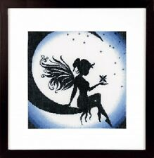 Fairy on the Moon - Lanarte Counted Cross Stitch Kit w/18 Ct Aida New