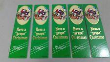 California Raisins bookmarks lot of 5 vintage Christmas Gift Enclosure 1988