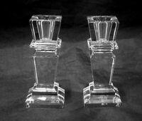 "Cristal Sevres France Pair of Crystal Candlesticks 4"""
