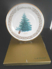 Lenox Christmas Plate 1978 in Original Box Blue Spruce Christmas Tree By Lenox