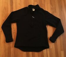 Women's SUGOI Long Sleeve Thermal Half Zip Shirt / Black Large Thumb loops