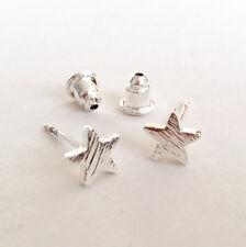 Estrella pequeño plata cepillada Sweetpea Studio Aretes Regalo Joyería-Postes