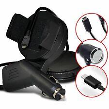 ✔ Nero Parabrezza Girevole Mount Mobile MINI Telefono Titolare Culla Kit Caricabatterie per auto