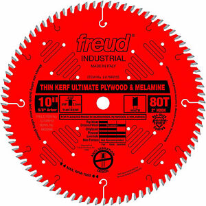Freud LU79R010 10 Inch 80T Thin Kerf Ultimate Plywood and Melamine Saw Blade