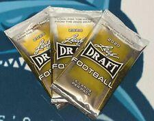 2020 Leaf Draft 3 Pack Lot Possible Joe Burrow Or Tua RC Rookie Football Cards