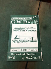 More details for gwr & sr names & numbers reference book 1947