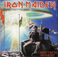 """IRON MAIDEN 2 MINUTES TO MIDNIGHT / RAINBOW'S GOLD FRENCH 45 PS 7"""""""