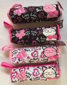 Cloth Stationery Tote Bag Pencil Pouch Cat Unicorn Black White Pink NEW