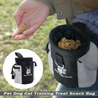 Pet Dog Cat Training Treat Snack Bag Pouch Storage Holder Dispenser With Hook US