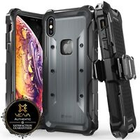 [vArmor] Rugged Holster Belt Clip Kickstand iPhone XS Max TPU PC Cover Case