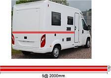 10M camping-car / Caravane VINYL rayures Stickers graphique couleurs au choix