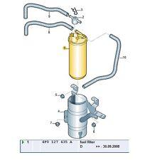 NUOVE Originali AUDI A6 2.7 3.0 quattro A6 ALLROAD 4F0127435A Filtro Carburante Diesel