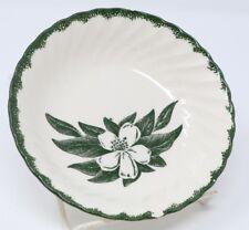 Royal China Underglaze Woodbury Green Dogwood White Floral Swirl VTG 60's Saucer