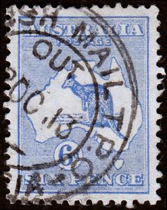 Australia Scott 48, Die II, Ultramarine (1915) Used F-VF, CV $8.75 M