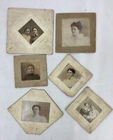 Antique Cabinet Cards Lot of 6 Photos Women Late 1800s Texas Estate e1