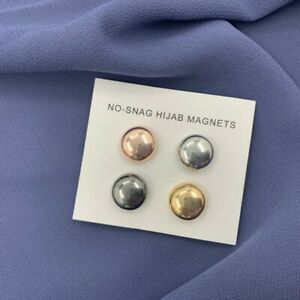 Strong Magnet Metal Plating Muslim Hijab Clip Safe No Hole Magnetic Turban Pins