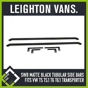 SWB LV Matte Black Side Bars (Fits VW Transporter T5 T6 T6.1)