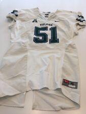 Game Worn Used Nike Tulane Green Wave Football Jersey Size Xl #51