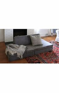NEW The Nugget Comfort Kids Play Sofa Fort Couch Harbor Grey In Hand Free Ship