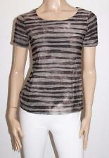 regatta Brand Chocolate Striped Short Sleeve Top Size 8 BNWT #TA95