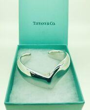Tiffany & Co. Elsa Peretti Sterling Silver Wing Wave Cuff Bangle