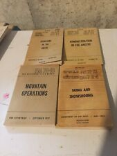 Post WW2 Artic, Mountain Manuals