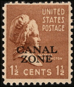 Canal Zone - 1939 - 1 1/2 Cents Bister Brown Martha Washington Issue # 119 Mint