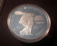 Uncirculated Proof 1983-S San Francisco Mint Olympic Silver Dollar Free S/H!