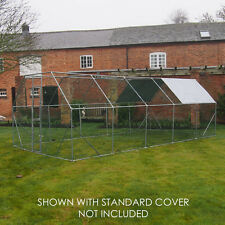 CHICKEN RUN 6M X 3M WALK IN PET CAGE COOP FOR DOG RABBIT HEN CAGE PEN METAL DOOR