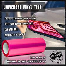 "Hot Pink Vinyl Film Smoke Tint Headlight Taillight Fog Light 12""x48"" In 1 x 4 FT"