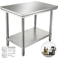 "24"" x 36"" Stainless Steel Work Prep Table Commercial Kitchen Restaurant New"