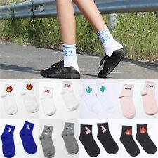 Mujeres calcetines de dibujos animados de impresión calcetines dealgodóncasualSE