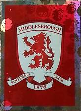 201 MIDDLESBROUGH badge shiny 2016/2017 Topps Merlin Premier League sticker