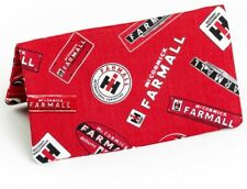 Farmall and IH Logo Checkbook Cover, Red Fabric