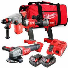 Milwaukee M18FPP4G2-502B 18v 4 Piece Power Tool Cordless Kit + 2 x 5Ah Batteries