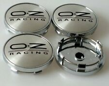 OZ Sport Wheel Alloy Center Caps Set Of 4 Hub Centre Cap Badge Black/Silver 60mm