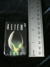 "ALIEN 3 button pin back 2 1/2"" tall Promotional Item 1992 Vintage"